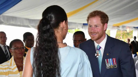 When Prince Harry met Rihanna: A royal run-in in Barbados