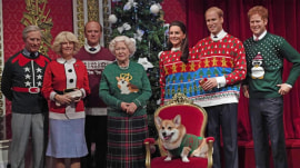 Royal family sports ugly Christmas sweaters in Madame Tussauds waxworks