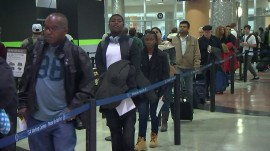 Airport cancellations could impede post-holiday travel