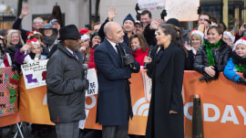 Ex-Miss Universe Olivia Culpo collects toys for TODAY, talks new thriller