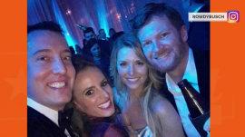 Dale Earnhardt Jr. gets married, Danica Patrick catches bouquet