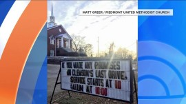 This South Carolina church is using a hilarious sign to guilt Clemson fans