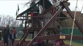 Malia and Sasha Obama's swing set donated to Washington DC shelter