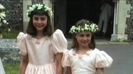 Never-before-seen footage shows young Kate and Pippa Middleton as bridesmaids