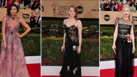Sheer dresses, stripes: KLG and Hoda weigh in on SAG Award fashions