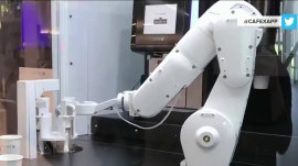 Look inside the first robot-powered coffee shop in America