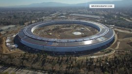 Get a sneak peek (via drone) at Apple's new 'spaceship' campus