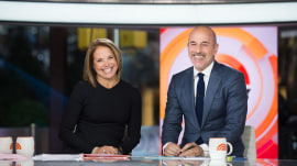 Matt Lauer welcomes Katie Couric back to the TODAY anchor desk