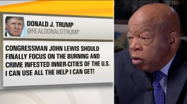 Donald Trump feuds with Rep. John Lewis on Twitter, asks for 'all the help I can get'