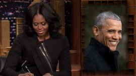 Michelle Obama was Jimmy Fallon's only guest as she bid farewell on 'Tonight'