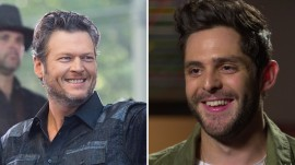 Thomas Rhett got homework help from Blake Shelton years before touring with him