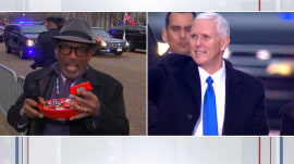 'Give me a break!' Al Roker uses candy in attempt to shake Mike Pence's hand during inaugural parade