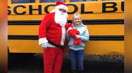 Students transform school bus for teacher's daughter