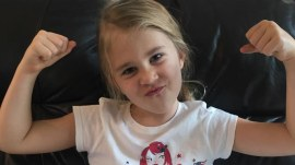 Paralyzed 6-year-old girl takes first steps