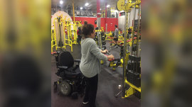 Woman walks, loses 40 pounds after spending years in wheelchair