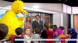 Big Bird tells Kathie Lee and Dean Cain about how he helps kids