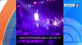 Music fan edits band's Wikipedia page to get into concert