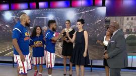 Watch Kate Upton, Jaimie Alexander learn Harlem Globetrotter tricks