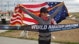 Woman with brain cancer runs 7 marathons