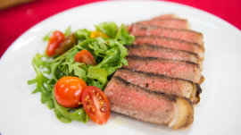 New York strip steak for Valentine's Day: Carson and Siri Daly show how