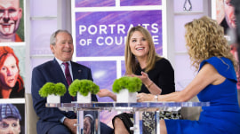 George W. Bush tells KLG, Jenna about top White House moments, choking on a pretzel