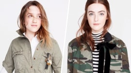 Can you identify the famous mothers of these 2 new J.Crew models?