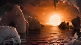 NASA reveals 7 Earth-size planets orbiting dwarf star