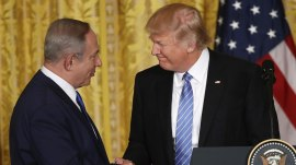 Trump backs away from 2-state Israel-Palestine solution