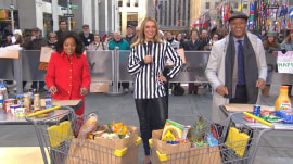 Grocery bagging championships are real— Sheinelle and Craig show their skills