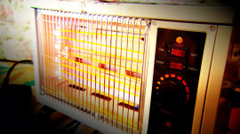 See how quickly a space heater can cause a dangerous house fire