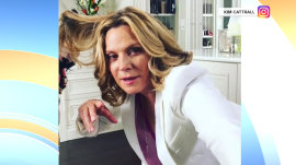 Kim Cattrall pokes fun at her mannequin challenge pose.
