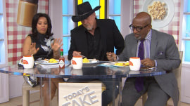 Actor Scott Foley puts peanut butter on scrambled eggs; TODAY tries it out