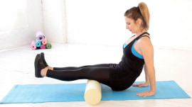 Foam roll to alleviate knee pain