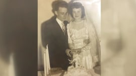 Woman wears wedding dress from 1952 to celebrate 65th anniversary