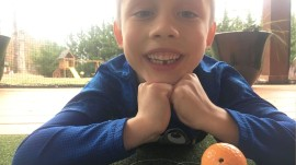 Maxton saw losing a tooth as an opportunity to work on his golf swing