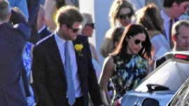 Prince Harry and Meghan Markle attend wedding in Jamaica