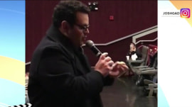 Josh Gad surprises fans at 'Beauty and the Beast' screening