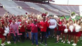 Al Roker has a 'beautiful morning' at OU for Rokerthon 3