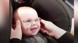 Watch the sweet moment this 5-month-old sees clearly for the first time