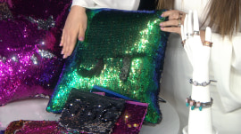 Sequined pillows, spinnable rings, glam goo: Bobbie's Buzz