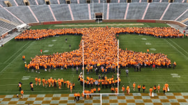 Rokerthon 3: University of Tennessee sets record for largest human letter
