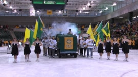 Watch Al Roker make his entrance at SUNY Oswego on a Zamboni!