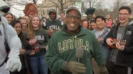 Al celebrates Guinness record with Loyola University Maryland ukulele group