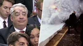 Highs and Lows: White House reporter's glasses, train blasts snow at commuters