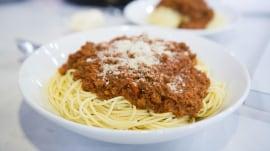 Make Ryan Scott's spaghetti Bolognese and garlic bread for under $20
