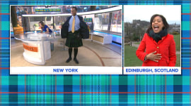 TODAY's Sheinelle Jones visits Scotland (and gifts Craig Melvin with a kilt!)