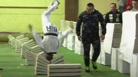 Watch this taekwondo artist crush 111 blocks with his head in just 35 seconds