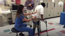 10-year-old boy walks again after becoming paralyzed in drive-by shooting