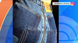 These jeans with a zipper up the backside can be yours for only $1,870