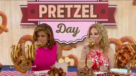 Kathie Lee and Hoda toast National Pretzel Day (with wine, of course!)